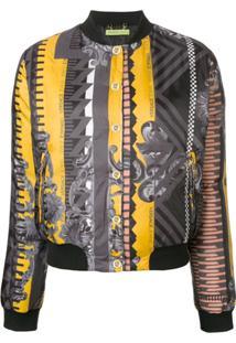 Versace Jeans Jaqueta Bomber Estampada - Cinza