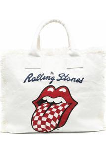 Mc2 Saint Barth Bolsa Rolling Stones De Canvas - Neutro