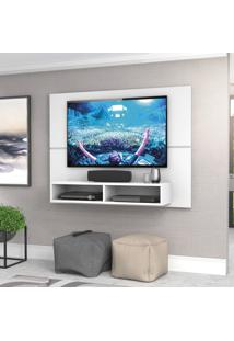 Painel Para Tv Zanzini Pol New Slim Até 49 Branco Ártico