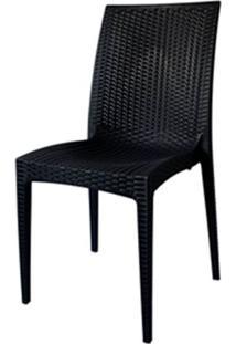 Cadeira Rattan Polipropileno Preto- 18918 Sun House