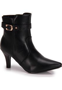 Ankle Boots Bico Fino Mooncity Fivela