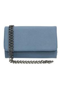 Bolsa Balada Clutch Maria Antonieta Store Pequena Alça De Corrente Azul