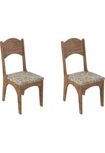Kit 2 Cadeiras Ca18 Para Sala De Jantar Nobre/Milano Floral - Dalla Costa - Tricae