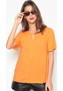 Blusa Com Vazado- Laranja- Colccicolcci