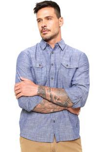 Camisa Jeans Hering Regular Bolsos Azul