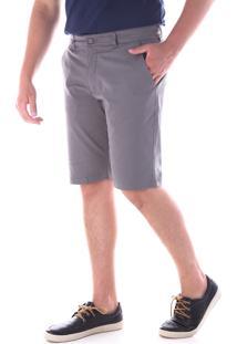 Bermuda 674 Sarja Cinza Traymon Modelagem Slim
