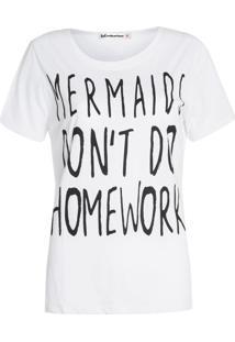 Camiseta Be Fashion 4Ever Mermaids Branca