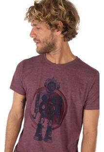 Camiseta Estampada Taco Masculina - Masculino-Vinho