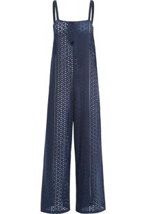 Macacão Feminino Crisantemo - Azul