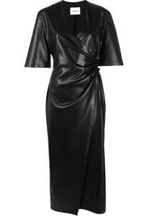 Nanushka Vestido Envelope - Preto
