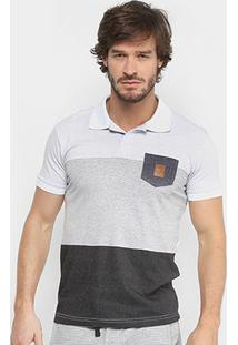 Camisa Polo Rg 518 Malha Pontilhada Com Bolso Masculina - Masculino