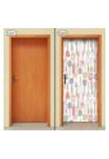 Adesivo Decorativo De Porta - Utensílios De Cozinha - 1500Cnpt