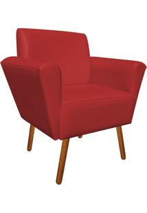 Poltrona Decorativa Dora Corino Vermelho - D'Rossi