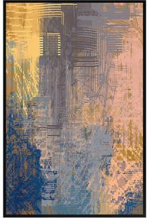 Quadro Decorativo Abstrato- Preto & Salmã£O- 60X80Cm
