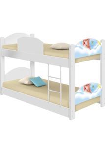 Beliche Infantil Pipas Com 2 Colchãµes Casah - Azul/Branco - Menino - Dafiti