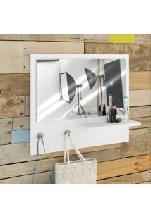 Painel Decorativo Com Espelho Trend Branco - Estilare Móveis