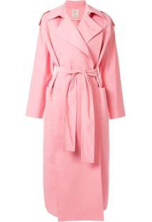 Maison Rabih Kayrouz Trench Coat Oversized - Rosa