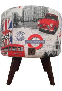 Puff Pã© Palito Redondo Alce Couch Drytex Londres 40Cm - Cinza - Dafiti