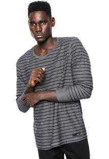 Camiseta Oakley Cold Striped Cinza