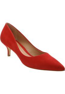 Scarpin Acamurçado - Vermelho- Salto: 5Cmschutz