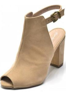 Ankle Boot Dududias10 Feminina - Feminino-Nude