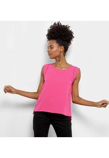 Regata Holin Stone Lisa Guipir Assimétrica Feminina - Feminino-Pink