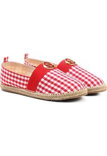 Sapatilha Shoestock Vichy Feminina - Feminino-Vermelho