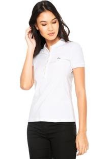 b54ed71c8d92a Camisa Pólo Branca Ombro feminina   Shoelover