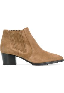 Tod'S Ankle Boot De Couro - Brown
