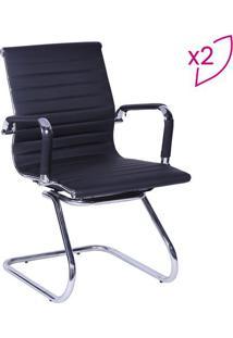 Jogo De Cadeiras Office Eames Esteirinha- Preto- 2Pã§Or Design