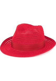 Borsalino Chapéu Trançado - Vermelho