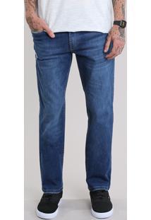 Calça Jeans Reta Azul Escuro