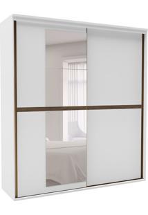 Guarda-Roupa Casal Sofisticato Com Espelho 2 Pt 6 Gv Branco