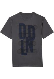 Camiseta Dudalina Manga Curta Estampa Malha Masculina (Cinza Medio, Xgg)