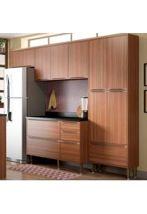 Cozinha Compacta Com Tampo 6 Peças Calábria 464 - Multimóveis - Nogueira