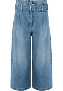 Michael Michael Kors Calça Jeans Pantacourt - Azul