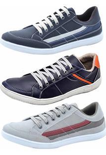 3fdc877c7fa ... Sapatênis Kit 3 Pares Tamanho Especial Dexshoes Multicolorido