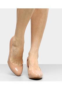 Scarpin Modare Salto Médio - Feminino-Nude