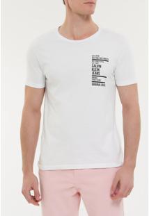 Camiseta Ckj Mc Est Ny Street Style - Branco 2 - Pp