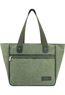 Bolsa Shopper Com Recortes- Verde & Verde Escuro- 28Jacki Design