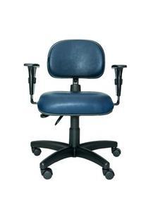 Cadeira Ergonômica Prolabore. Linha Bits. Ajuste Lombar. Braços Ajustáveis. Gás. Base Preta. Revestimento Sintético. Prolabore Produtos Ergonômicos