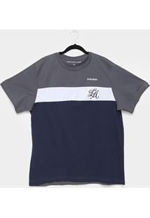 Camiseta Industrie La Plus Size Especial Masculina - Masculino-Chumbo