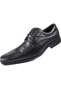 Sapato Social Pisa Forte Sintético Preto