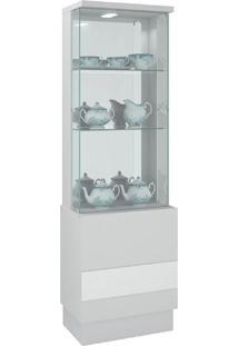 Cristaleira New Vina 11757 Branco Laca - Dj Móveis