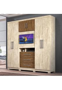 Guarda-Roupa Moval Dubai Com 6 Portas 3 Gavetas E Painel Para Tv - .