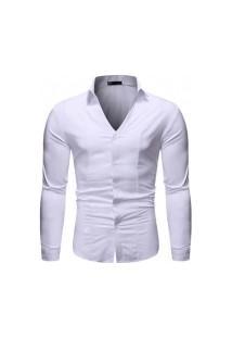 Camisa Masculina Fashion Style - Branca