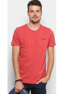 Camiseta Colcci Bolso Masculina - Masculino-Coral
