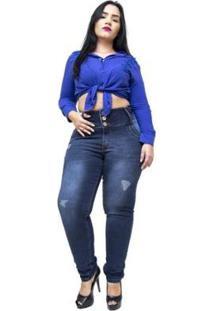 Calça Jeans Plus Size Credencial Skinny Feminina - Feminino