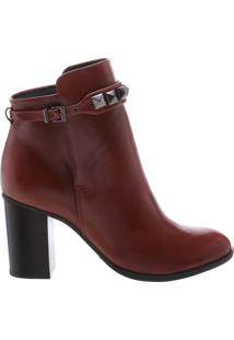 Bota Salto Grosso Studs Red Brown | Schutz