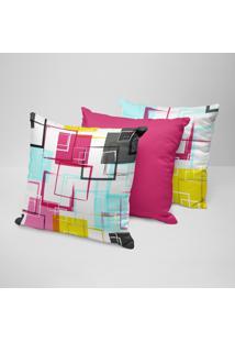 Kit 3 Capas Para Almofadas Decorativas Arabescos Coloridos 35X35Cm - Multicolorido - Dafiti